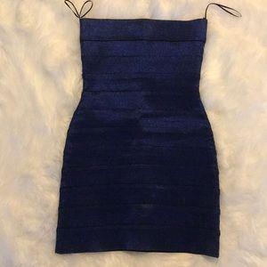 Women's Blue Shimmer Top Shop Dress